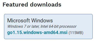Windows10安装Golang最新版本