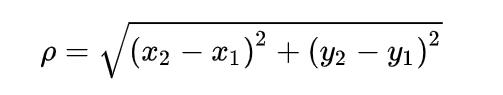 二维空间两点距离公式
