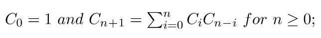 Python计算卡特兰数(catanlan number)