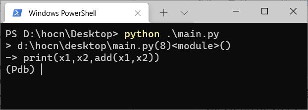 python pdb