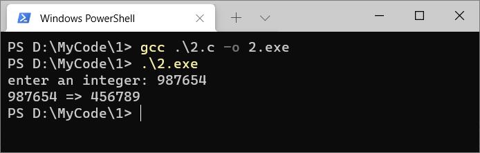 C语言反转数字
